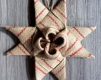 2016 Burlap Star Decoration