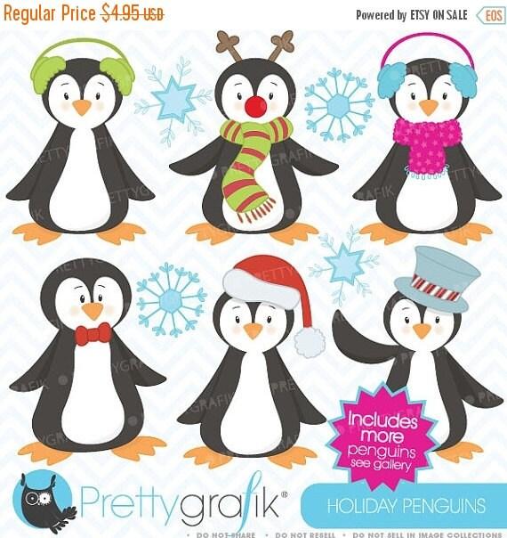 80% OFF SALE penguin clipart commercial use, vector graphics, digital clip art, digital images  - Cl401