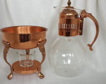 Copper and Glass Carafe