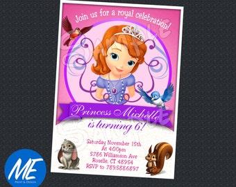 Sofia the first birthday Invitation - Printable