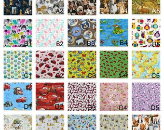Additional fabric choices for Creative Chickie pillow beds, nap mats, sleepover beds, floor pillows