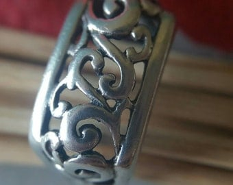 Scroll Design Silver Ring (st-1867)