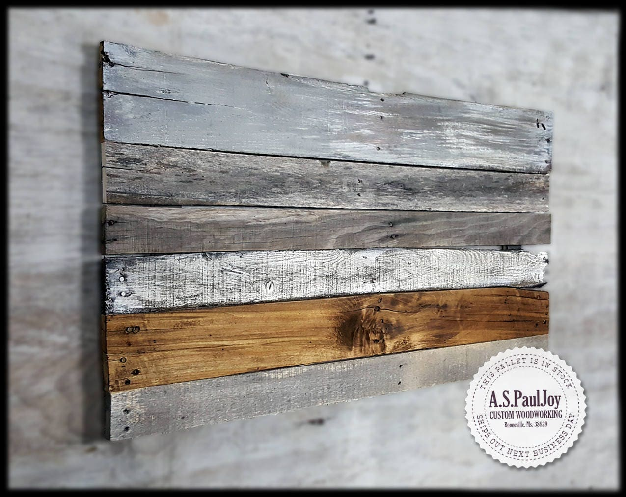 Rustic Name Wall Decor : Rustic pallet wall art sign home decor