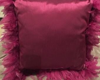 "20"" Cerise Cushion with Pad"