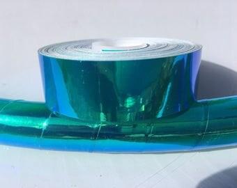 """3/4"""" Blue Lagoon Transparent Hula Hoop Tape"""