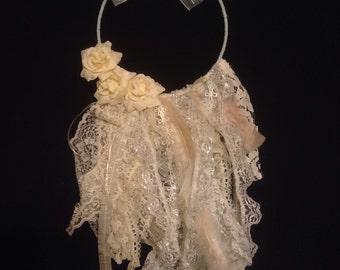 Romantic Shabby Chic Lace Wreath