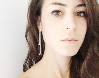 Woodlark Front-Back Earrings