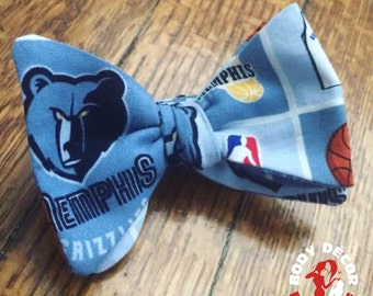Memphis Grizzlies Cotton Adjustable Self-Tie Bow Tie Infant Boy Adult Size Groomsmen Wedding SelfTie Wedding Day Go Grizz Grind House