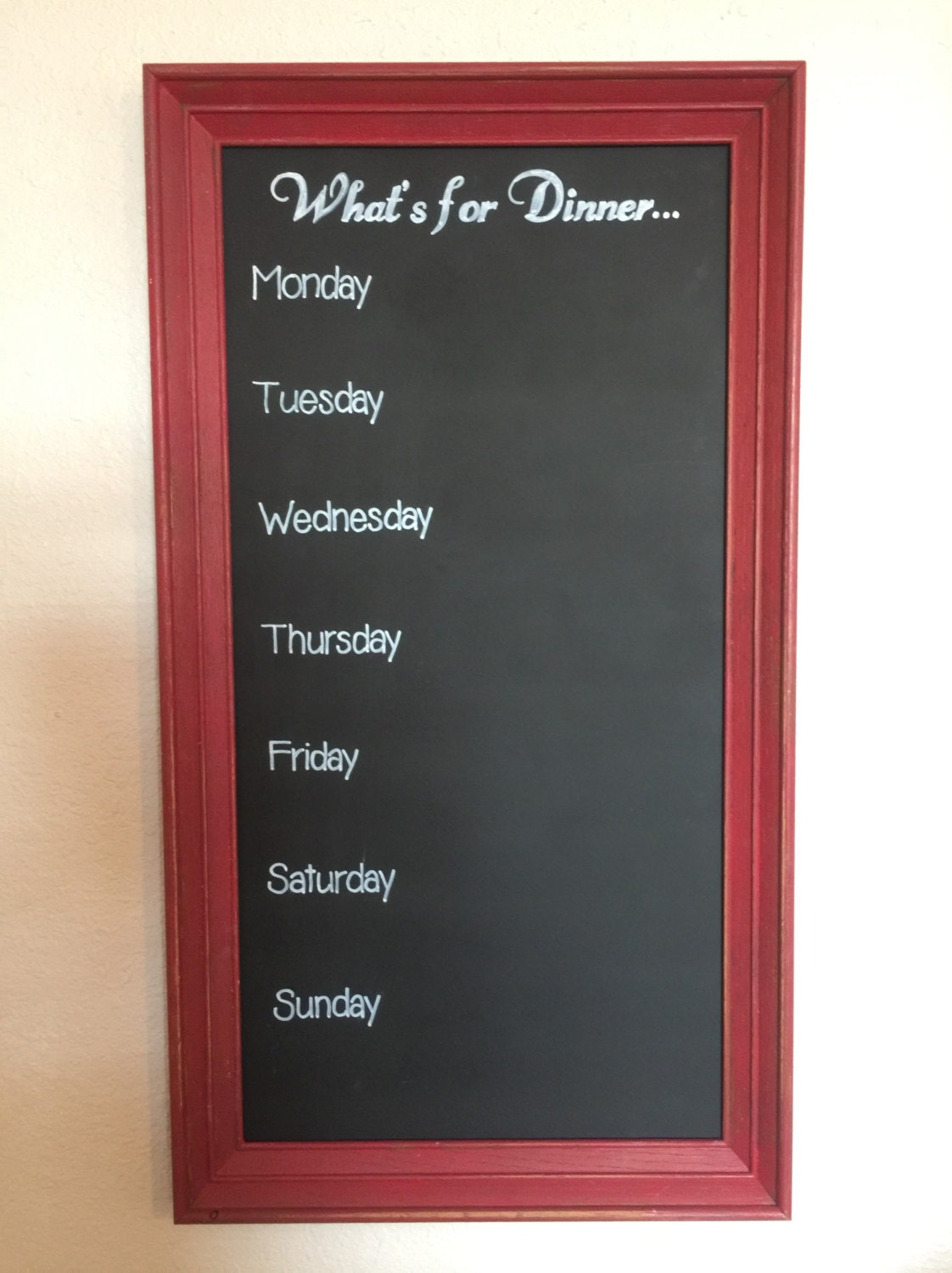 What 39 S For Dinner Magnetic Menu Planner Red Frame