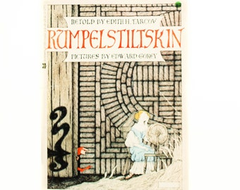 Rumpelstiltskin, 1973, retold by Edith H. Tarcov,  Paperback book, Vintage Children's Book, Vintage Library
