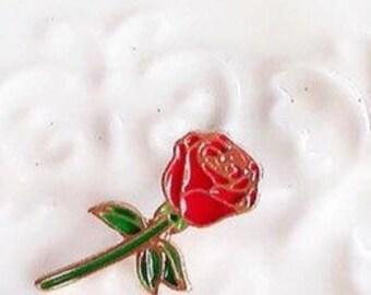 Small Rose Enamle Pin