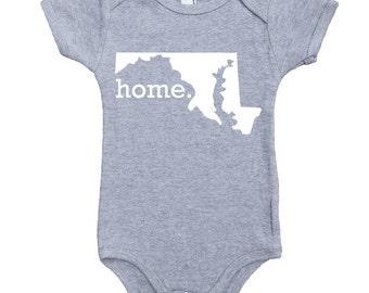 Homeland Tees Maryland Home Unisex Baby Bodysuit