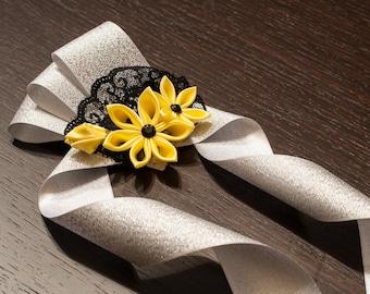 Canary Yellow Prom Wristlets - Wedding Corsage - wedding wristlets