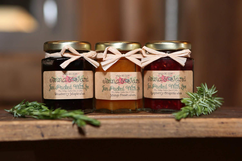 rustic thank you favors 125 2oz jars jam wedding favors. Black Bedroom Furniture Sets. Home Design Ideas