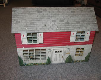Marx Metal Tab Dollhouse With 5 Rooms Has Lots Of Character And Would Be Great For Collector Or Child