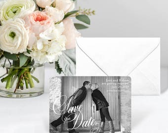 Dublin - Card - Save the Date - Includes Back Side Printing + Envelope
