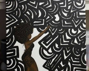 Unapologetic, African american woman painting, black art