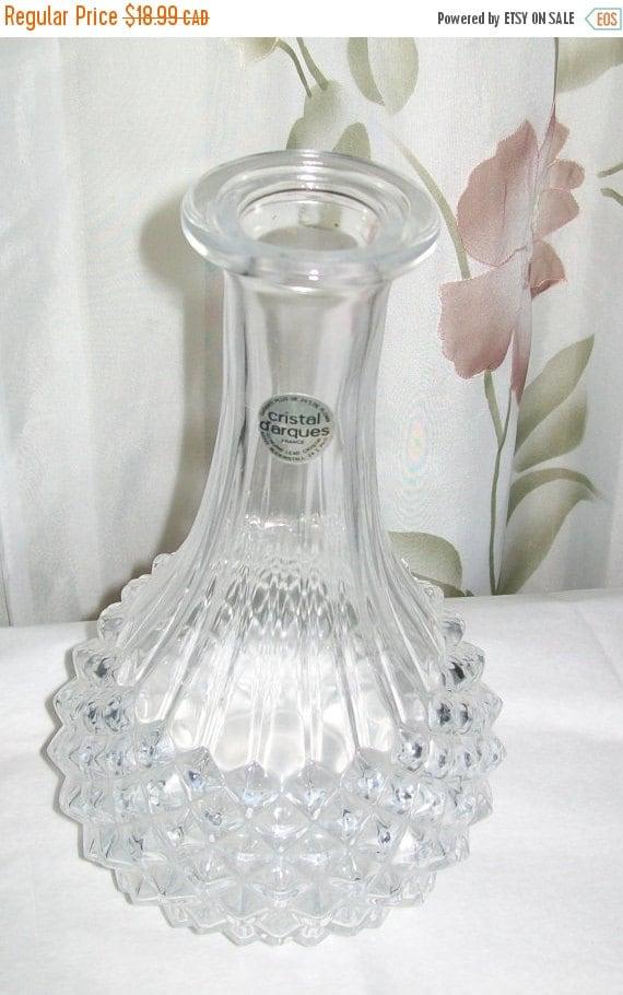 vintage crystal vase cristal d 39 arques vase vintage. Black Bedroom Furniture Sets. Home Design Ideas