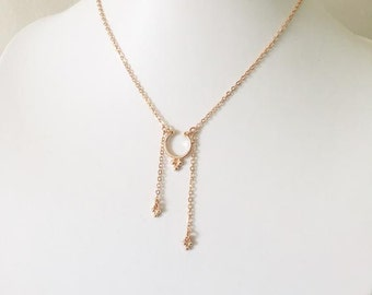 Karly - Silver, Gold or Rose Gold Necklace