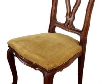 Six chairs solid walnut