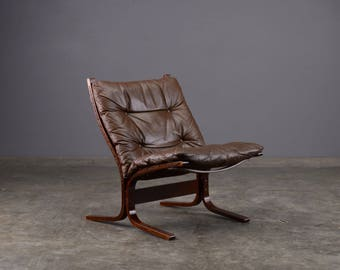 Mid Century Lounge Chair Siesta Low Back Leather Westnofa