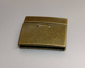 2 clasps - 30mm magnetic clasp for flat leather (2clasps) - leather supplies (MC52)