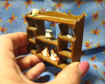 Miniature Shelf, dining room, living, accessories included, vase, creamer, collectibles, ceramic dog statues, (Dining/living room Shelf)