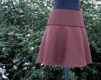 Rock wool rock winter rock Tweed skirt in rust winter skirt ladies