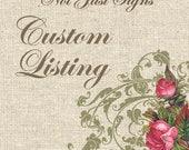Custom Listing for tarablaser