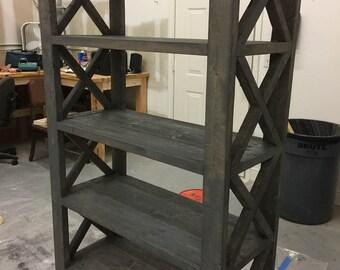 Tall Book Shelf - Classic Gray