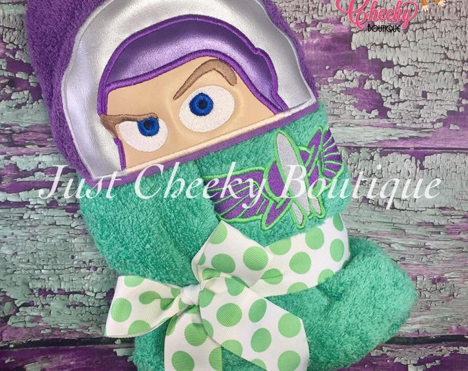 Toy Story Inspired Hooded Towel - Jessie - Sheriff Woody - Buzz Lightyear - Disney Birthday - Disney Vacation
