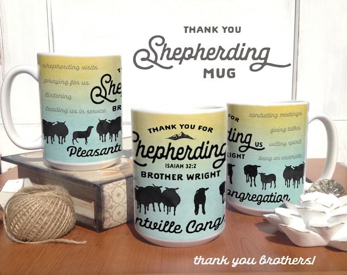 Featured listing image: Shepherding Us Sheep-Coffee Mug - jw gifts - jw ministry - jw pioneer gifts - best life ever - jw pioneer - jw shepherding mug
