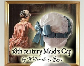 Maid's Lace cap - Lady's Formal 18th century Cap