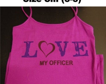 Love My Officer Camisole, size Small 3-5 Free Shipping