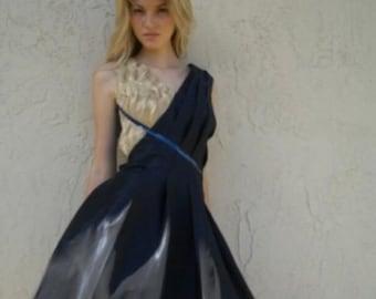 Sale!!  Midnight blue taffeta dress