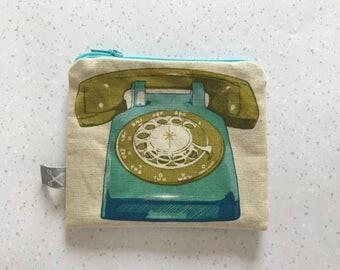 Mini zipper pouch Phone aqua