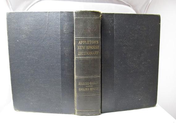 Appleton's New Spanish-English Dictionary, Cuyás, Arturo, 1928 Book, Hardcover, Espanol-Ingles, 4,000 Modern Words+