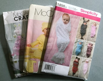 Lot of 3 Brand New Patterns for Babies