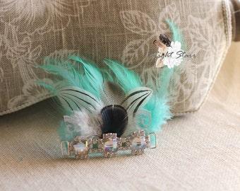Newborn headbands - Baby feather headbands - baby headbands - newborn photoprops - babies headband - headband for newborn - feather headband