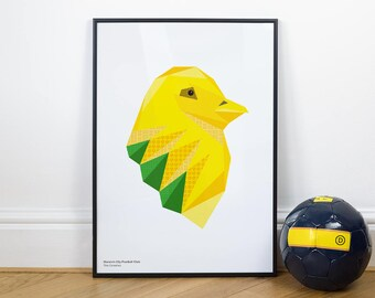 Norwich City Canary Illustration Print