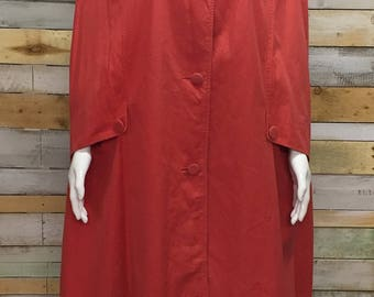 Lovely vintage red 50's/60's shower coat poncho cape o-s