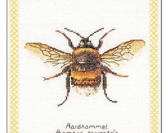 Counted Cross Stitch KIT Thea Gouverneur BUMBLE Bee on Aida 8x8 -Free US Shipping!!!