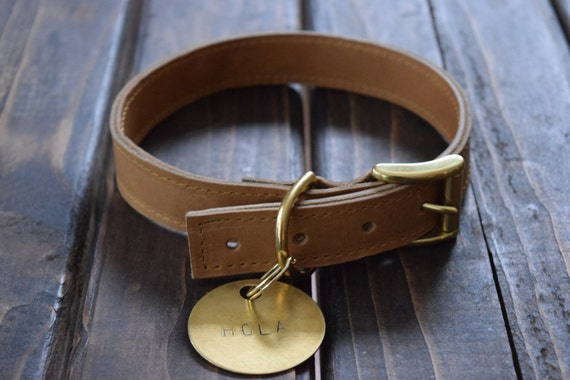 Large Dog Leather Collar