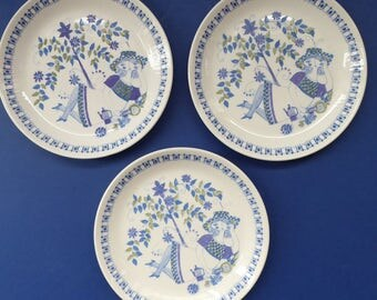 Nice Set of THREE Figgjo Flint: Turi Design / Side Plates. 7 inches
