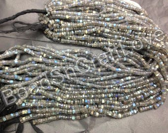 Labradorite wheel or tyre  shape faceted beads 5 or 7 mm, 100 pieces