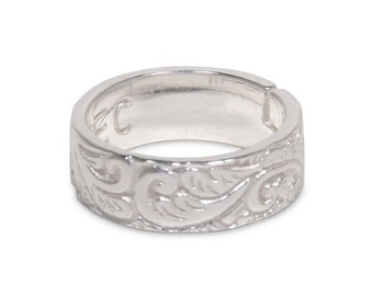 Silver Ring Band 1034