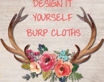 YOU Choose ~ Designer/Boutique Burp Cloths ~ Design Your Own ~ Any Fabric