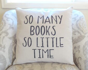 Book Lover - Reading Pillow - Book Lover Gift - Librarian Gift - Throw Pillow - Gifts for Authors - Authors Swag - Gifts for Writers