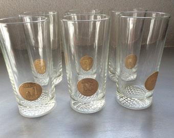 Cinzano Vintage Italian Vermouth Drinking Glasses