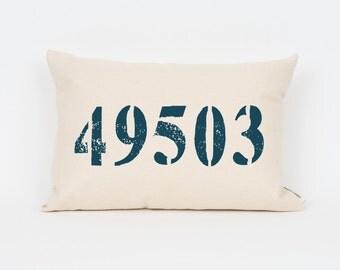 Custom Zip Code Pillow, Housewarming Gift, Realtor Gift, Closing Gift, Gift for Mom, Gift for Grandma, Home Pillow, Custom Home Decor